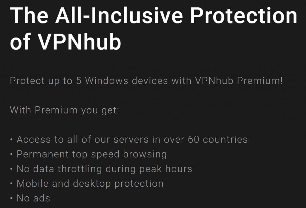 VPNhub premium connections