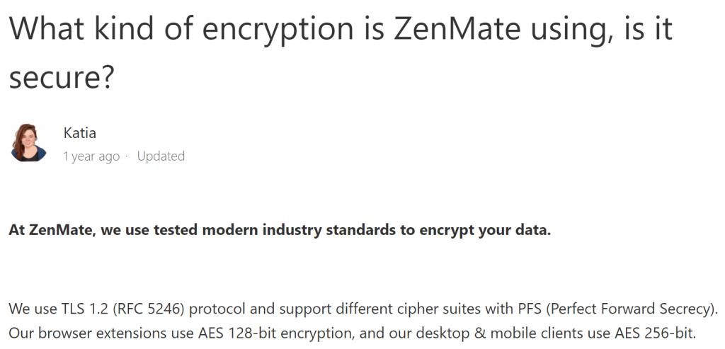 ZenMate Encryption