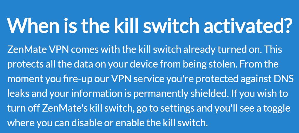 ZenMate Kill Switch