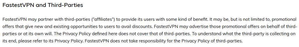 Fastest VPN Privacy Policy 2