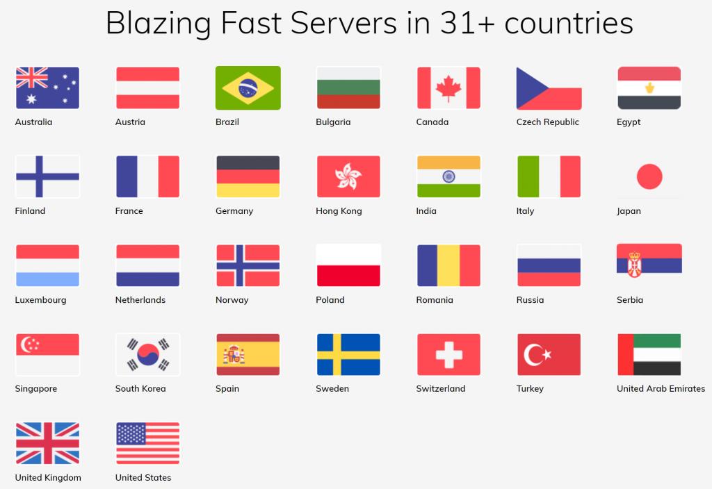 FastestVPN Countries
