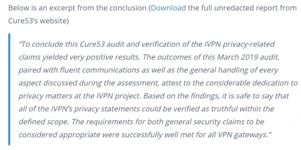 IVPN Audit