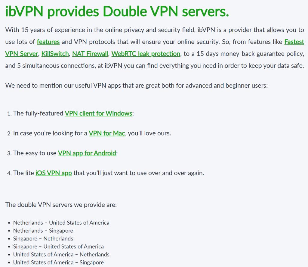ibVPN Double VPN